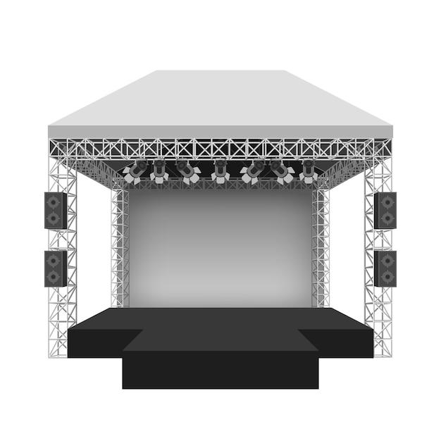 Подиум концертной сцены. представление шоу развлечение, сцена и событие. Бесплатные векторы