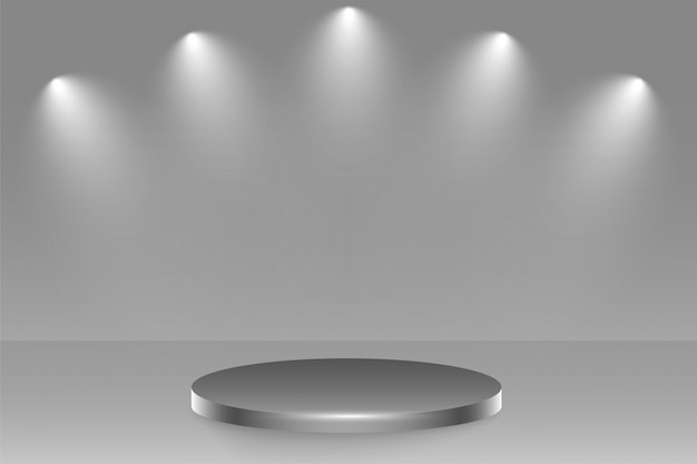 Подиумная сцена с фокусом внимания Бесплатные векторы