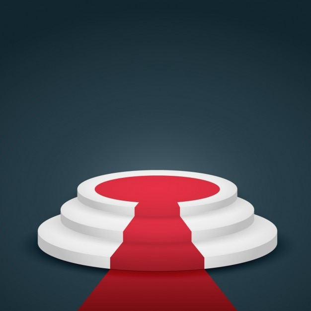 Podium With Red Carpet Vector Free Download
