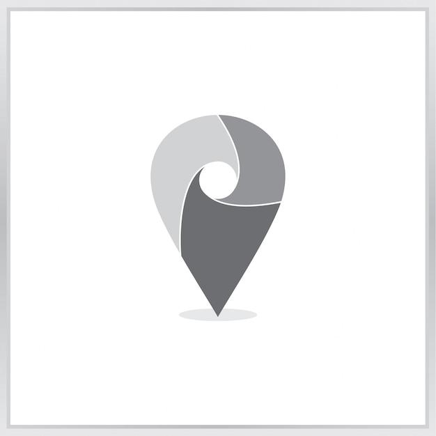 Pointer map icon Premium Vector