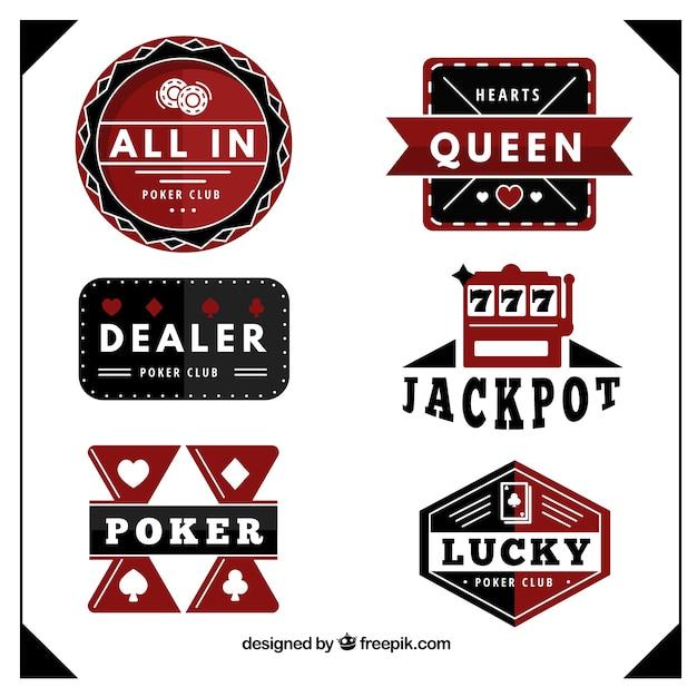Premium Vector Poker Club Badges