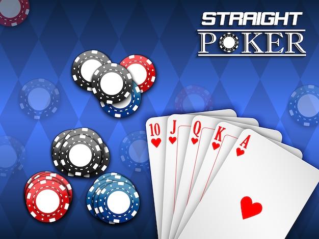 Poker game banner Premium Vector