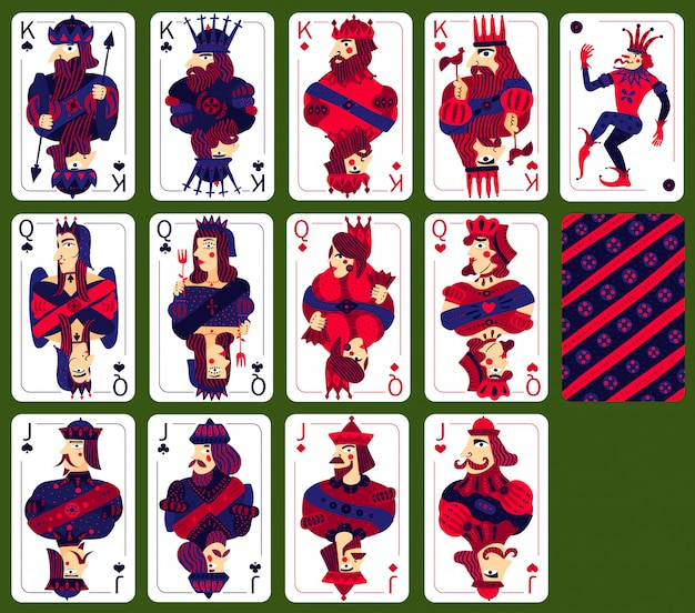 Poker playing high cards set Free Vector
