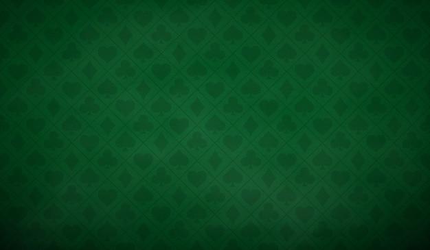 緑の色のポーカーテーブルの背景 Premiumベクター