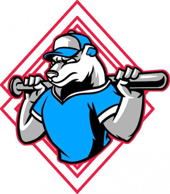 Polar baseball Premium Vector
