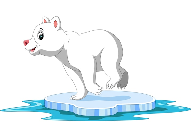 Polar bear cartoon Premium Vector