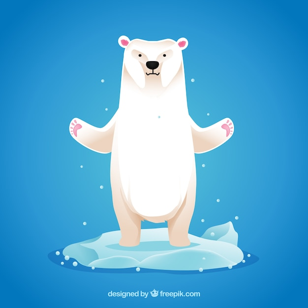 Polar bear illustration Premium Vector