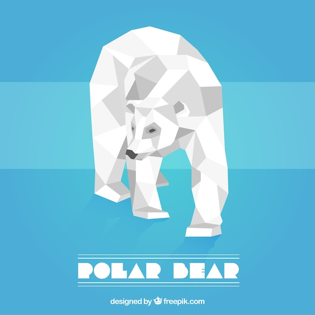 Polar bear in low poly style Vector | Free Download