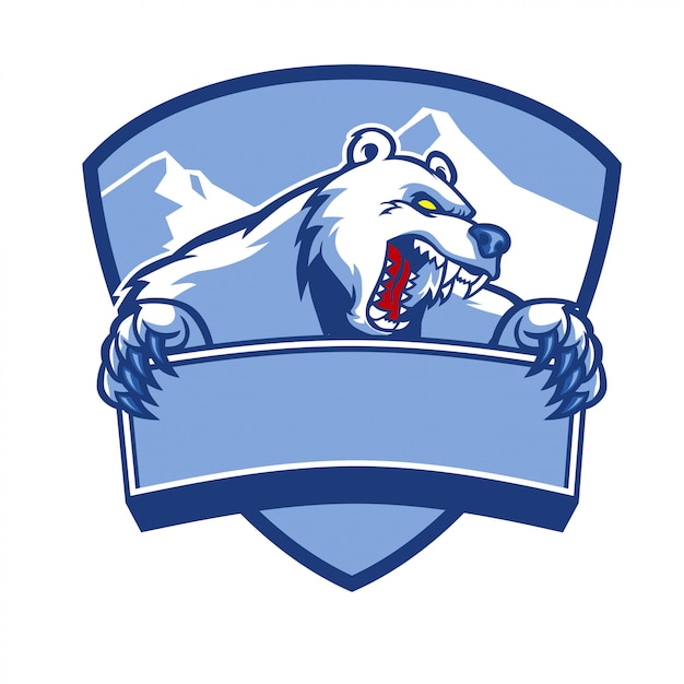 Polar bear mascot Premium Vector