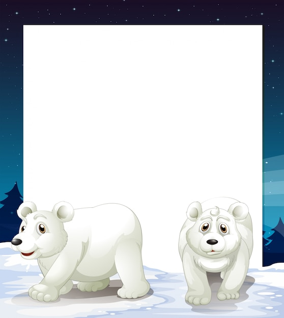 Polar bear template Free Vector
