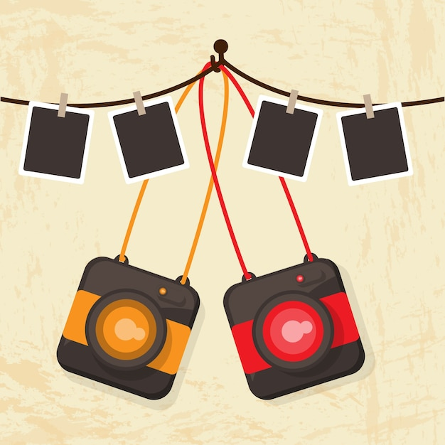 Souvent Polaroid camera retro vector Vector | Free Download GD06