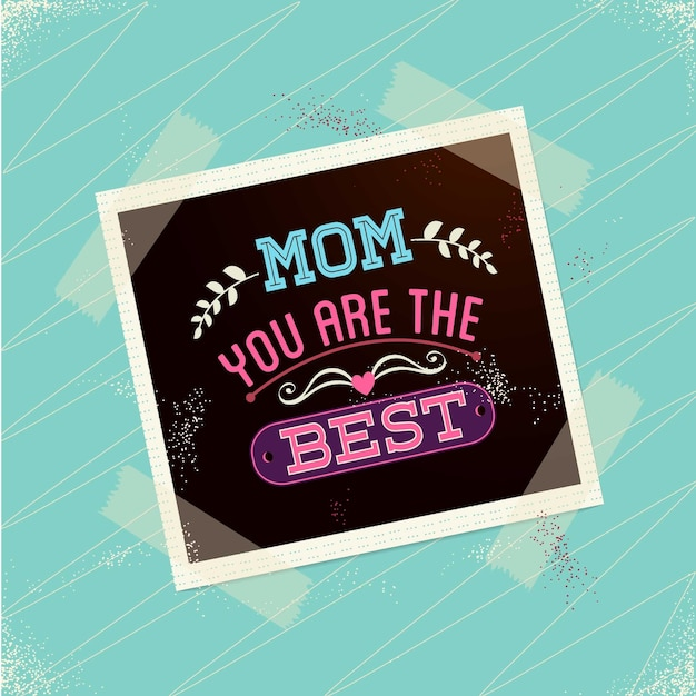 Polaroid mother's day card Free Vector