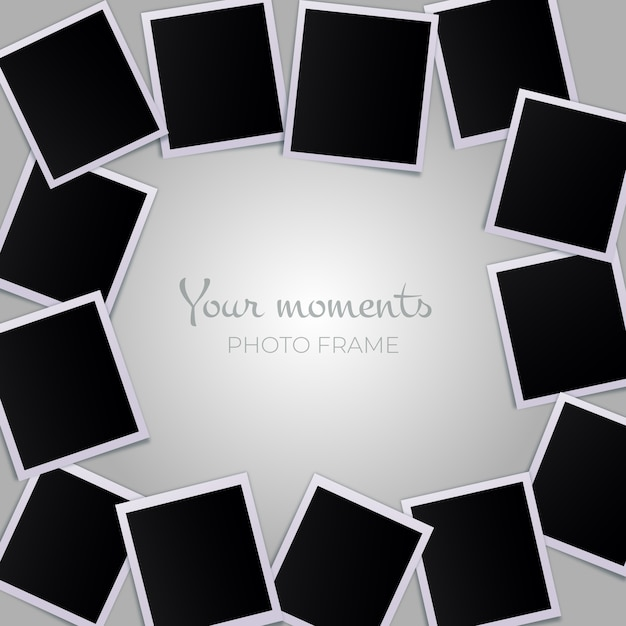 Polaroid picture collection Free Vector