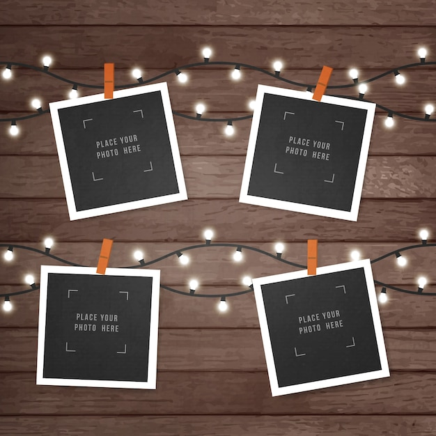 Polaroid Picture Frame Collection Vector Free Download