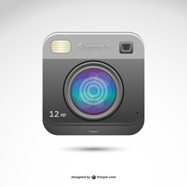 Polaroid retro photography logo Free Vector