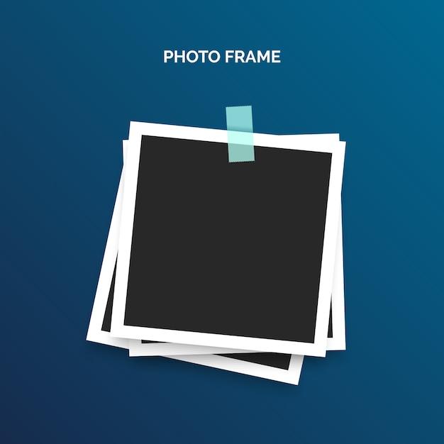 Шаблон рамки polaroid Бесплатные векторы