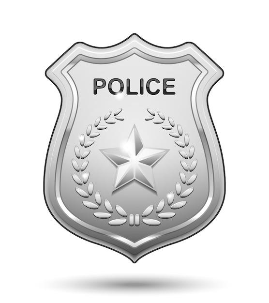 고립 된 경찰 배지 무료 벡터