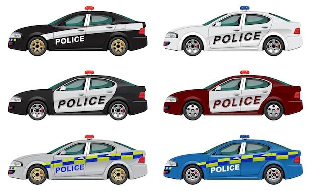 Police car set Premium Vector