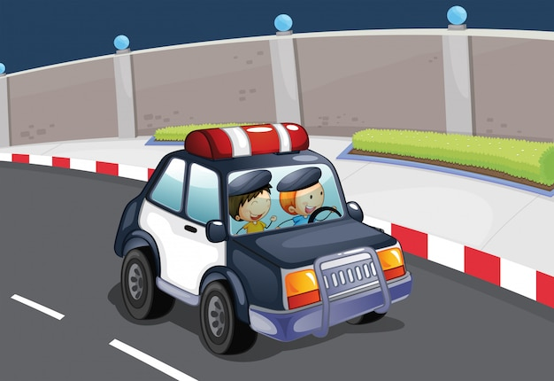 A police car Free Vector