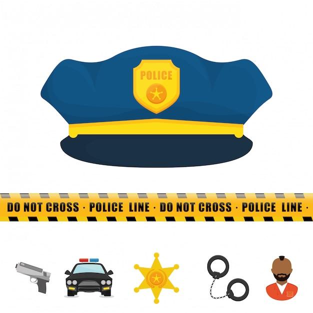 Police design Premium Vector