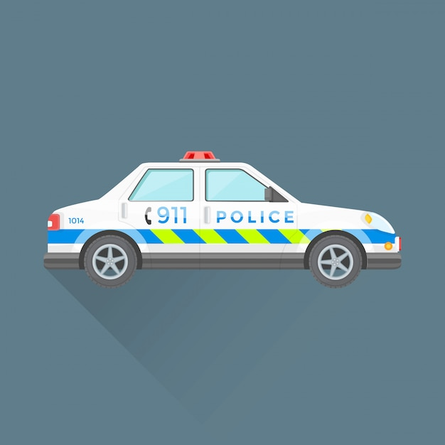 Police emergency service car illustration Premium Vector