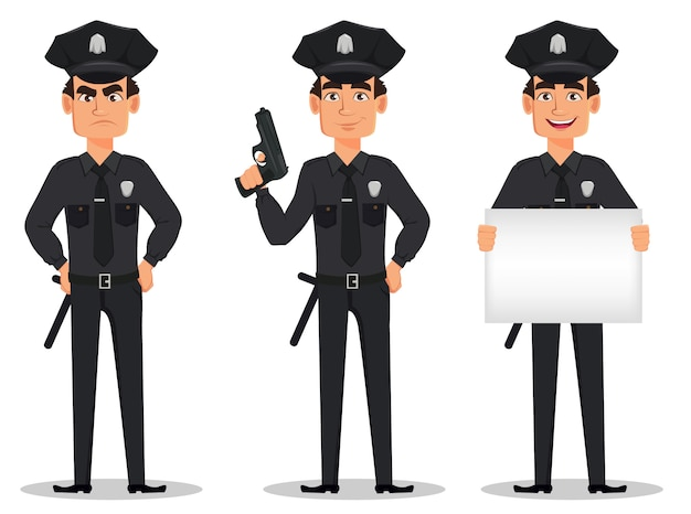 Police officer, policeman Premium Vector