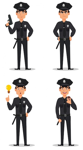 Police officer Premium Vector