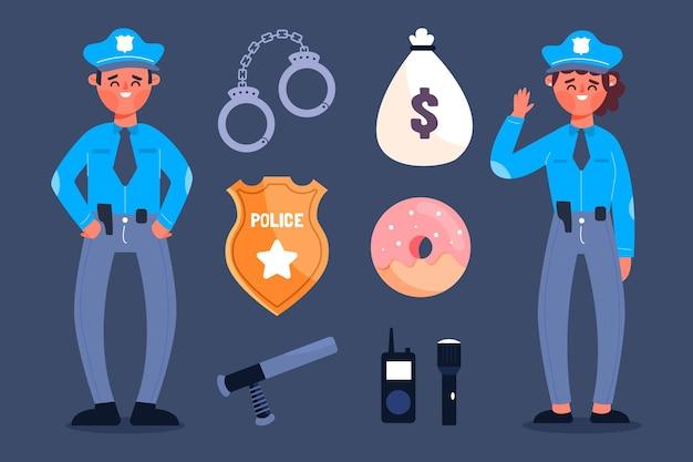 警察官コレクション 無料ベクター