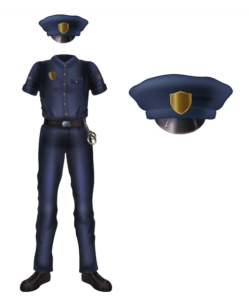 Cop uniforms real Mens Leather
