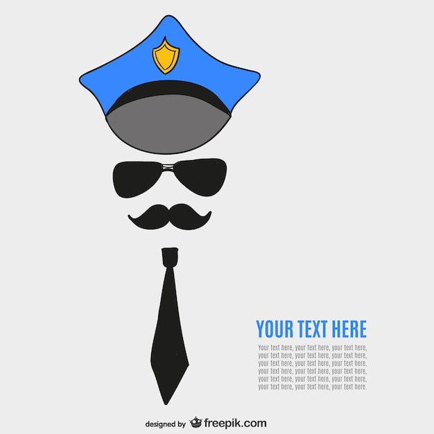 Policeman template Vector | Free Download