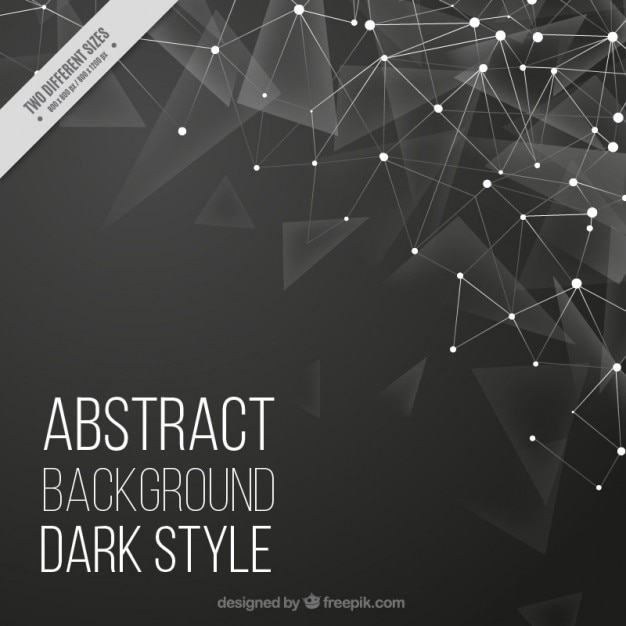 Poligonal background with lines and dots Premium Vector