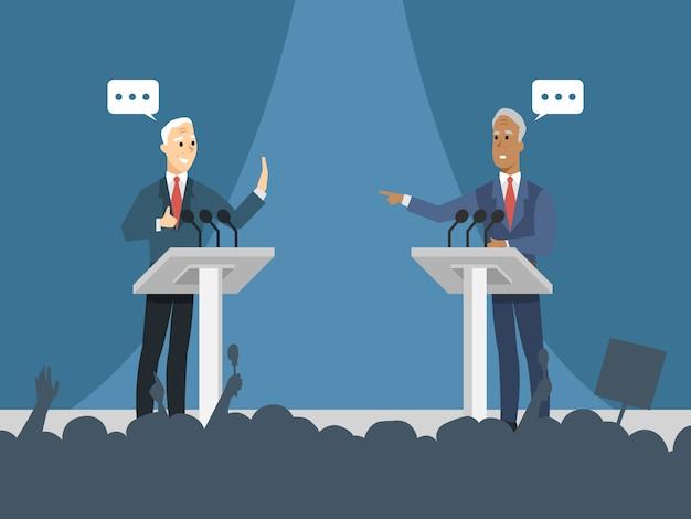 Political debate background Premium Vector