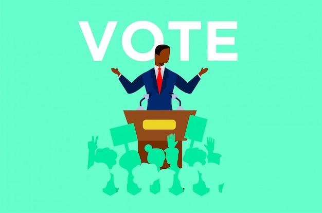 Political debates illustration Premium Vector