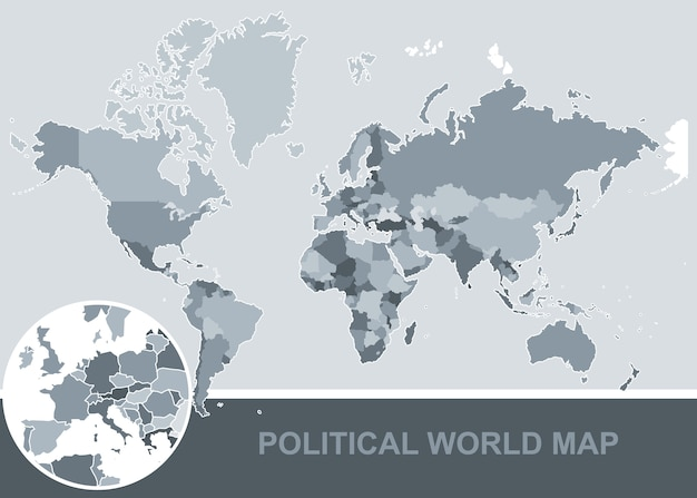 Political world map with all countries high quality vector political world map with all countries high quality premium vector gumiabroncs Gallery