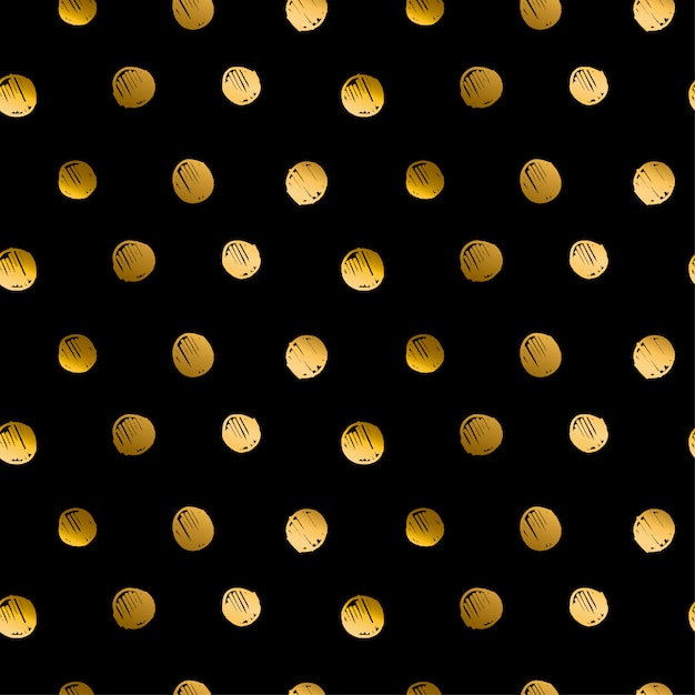 Polka dot luxury hand drawn seamless pattern Premium Vector