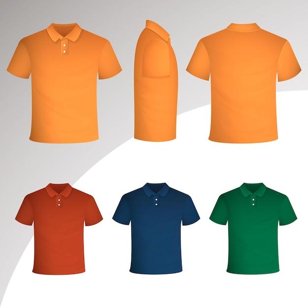 Polo shirt collection concept Free Vector