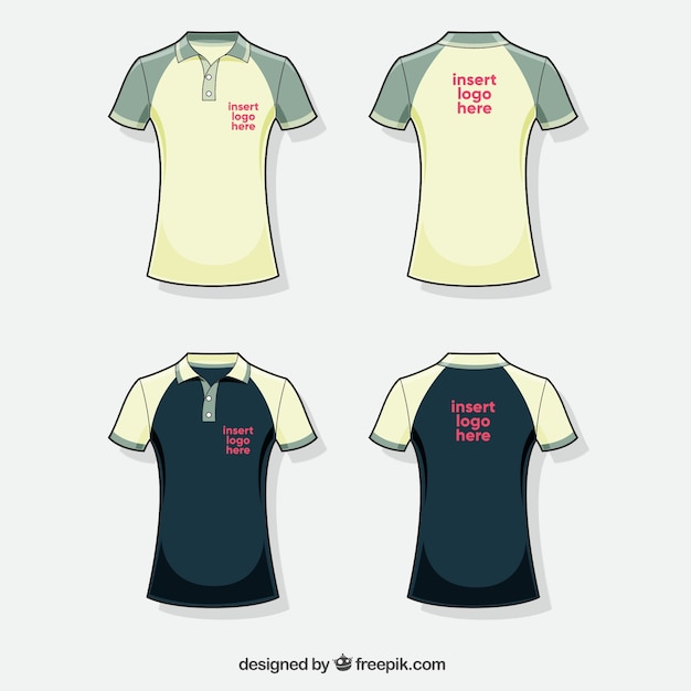 Polo Shirt Collection With Different Colors Vector Free Download