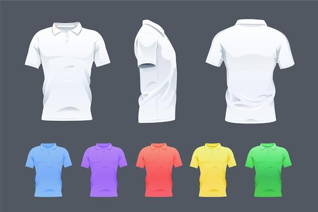 Коллекция рубашек поло Premium векторы