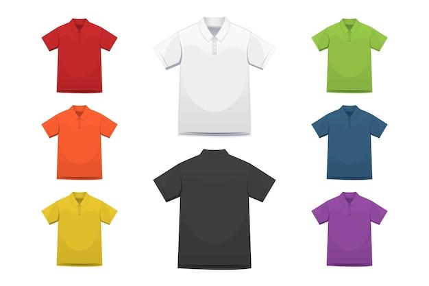 Polo shirt collection Free Vector