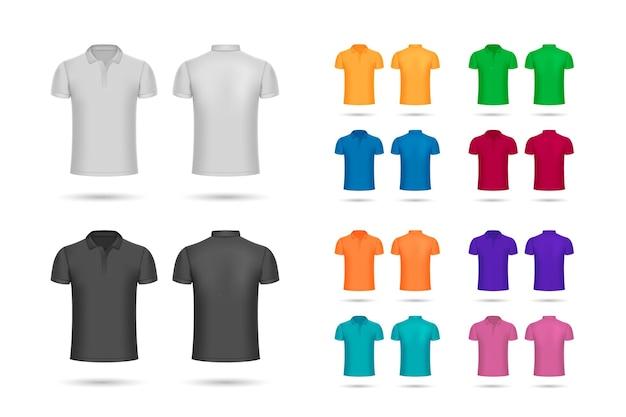 Коллекция рубашек поло Бесплатные векторы