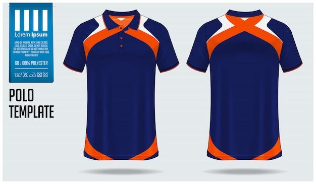 Polo shirt mockup design. Premium Vector