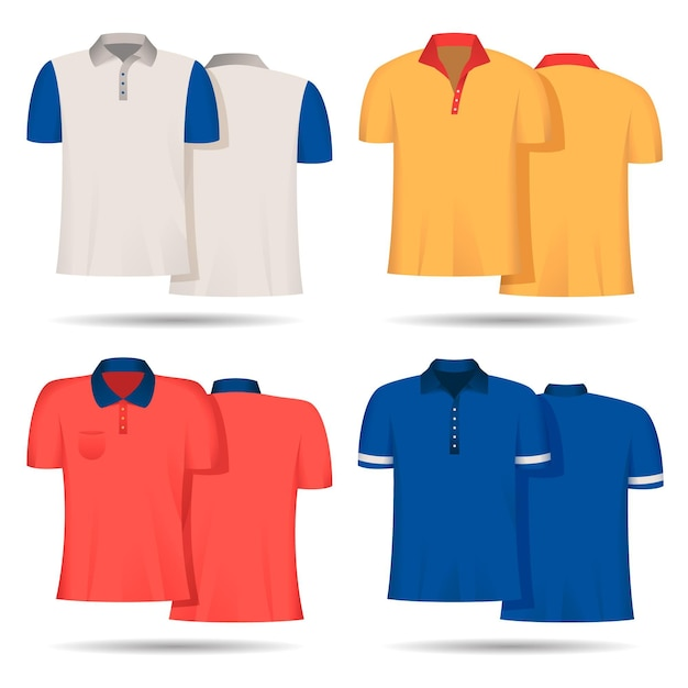 Polo shirt pack Free Vector