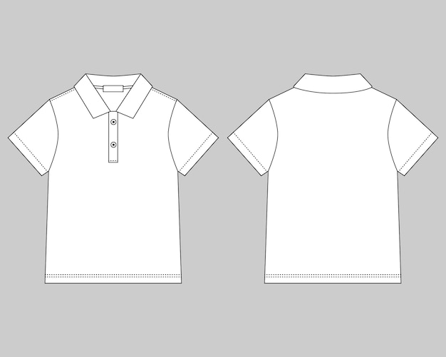 Polo t-shirt design template on gray background Premium Vector