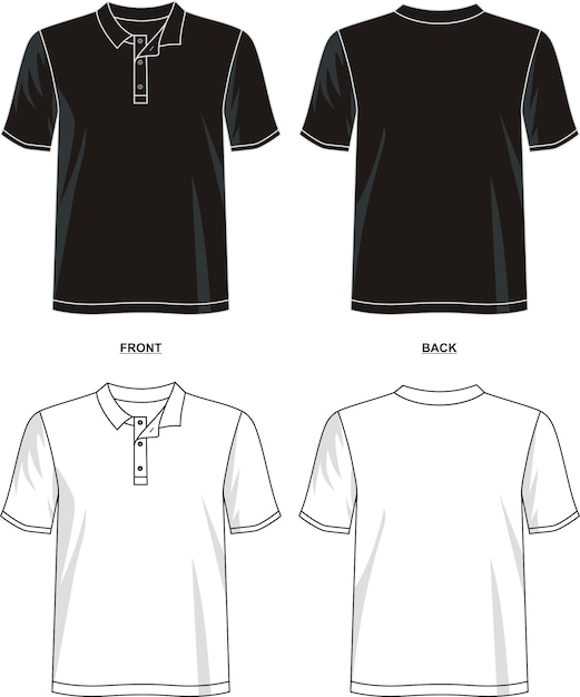 Polo t shirt template Premium Vector
