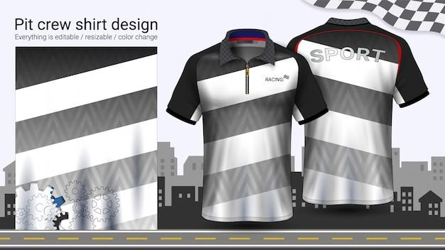 Polo t-shirt with zipper Premium Vector