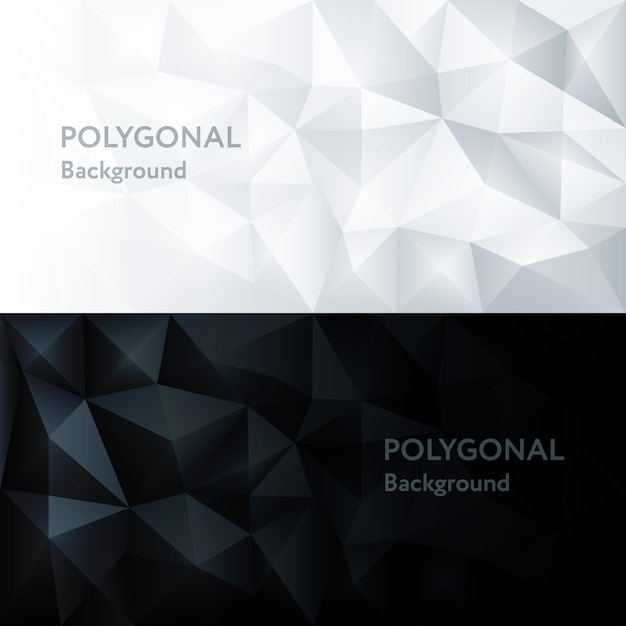 多角形抽象的な多角形の幾何学的な三角形の背景 Premiumベクター