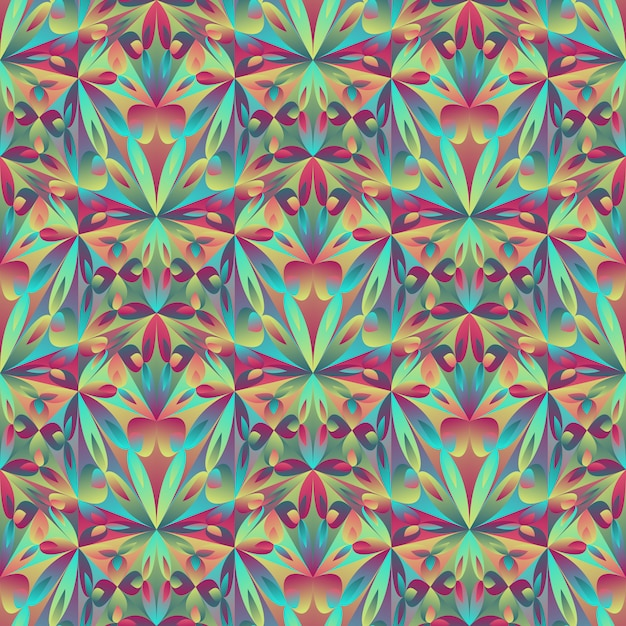 Polygonal abstract mosaic floral pattern background Premium Vector