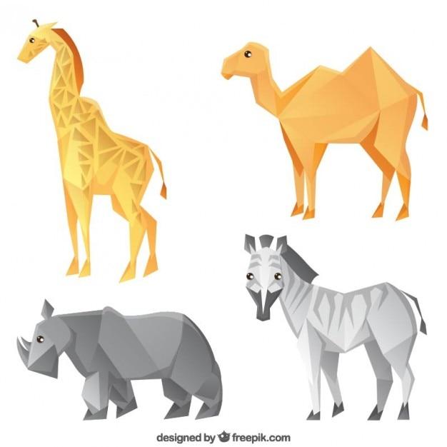 Polygonal animal collection
