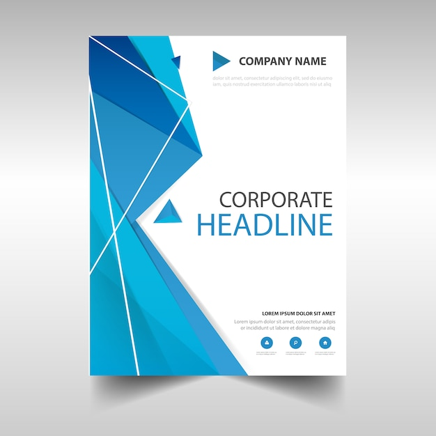 Book Cover Design Templates Free : Polygonal annual report book cover template vector free