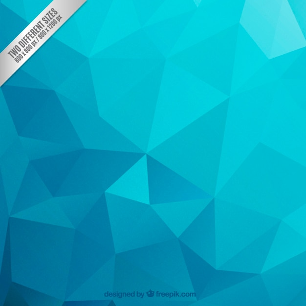 Polygonal background in blue tones Free Vector